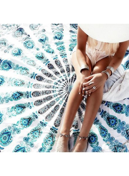 Fliex Roundie Beach Towel Blue