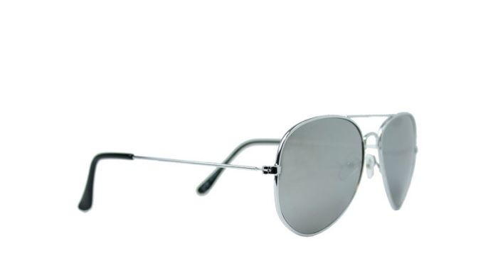 Fashion Mania Zonnebril aviator zilver