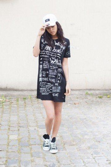 SIXTH JUNE Tuniek tekst zwart parisiennes