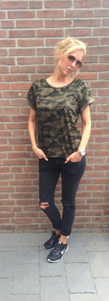 EIGHT PARIS Camo tee