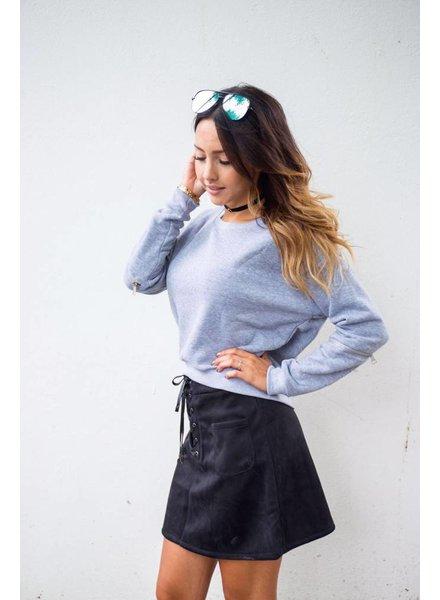 EIGHT PARIS Stylish sweater grijs