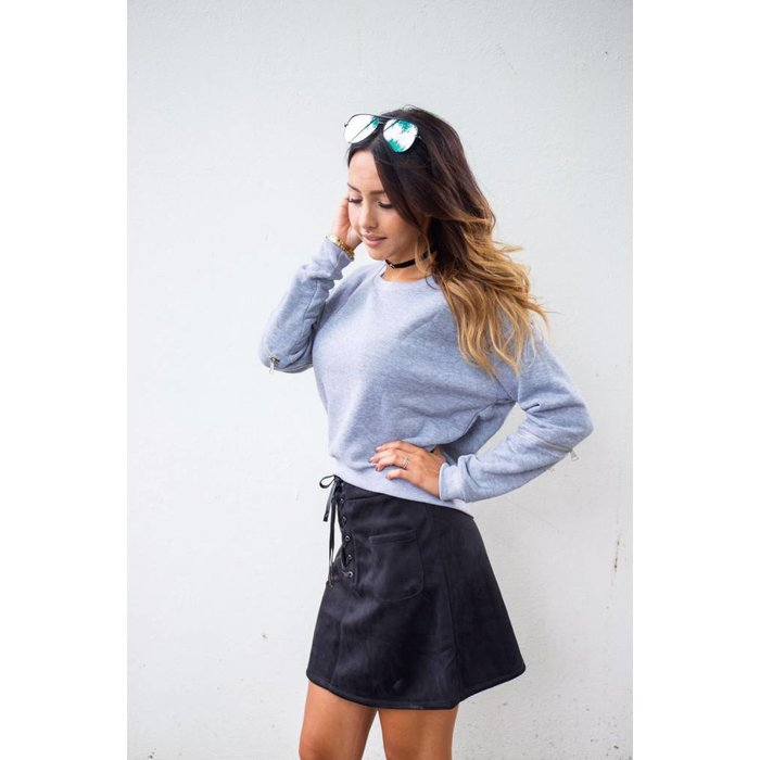 Stylish sweater grijs