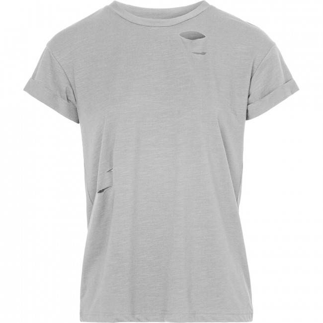 LA SISTERS Damaged Basic Tee Grey