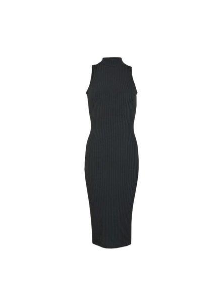 LA SISTERS Jurk Long Striped Tube Dress Black