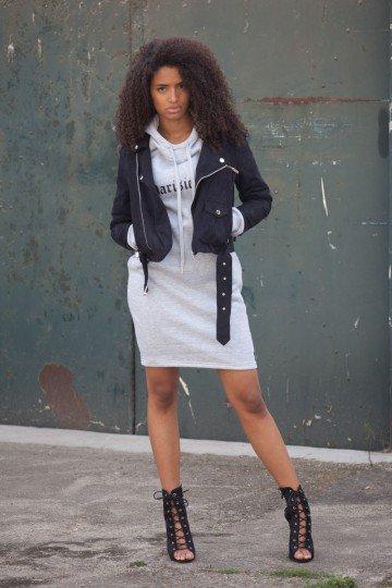 SIXTH JUNE Sweater jurk gothic grijs