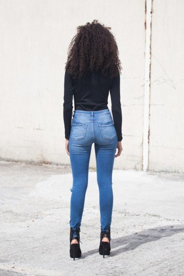 SIXTH JUNE Body Top Parisiennes V-hals zwart