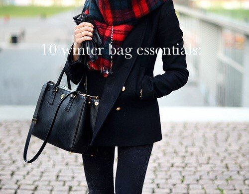 10 Winter bag essentials