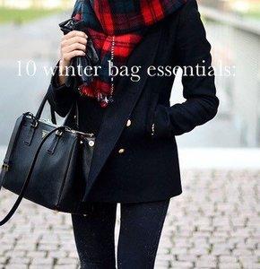 10 Winter bag essentials
