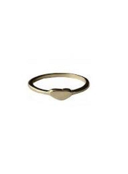 Fashion Mania Ring Hartje Goud