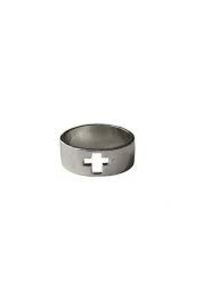 Fashion Mania Ring Open Cross Zilver