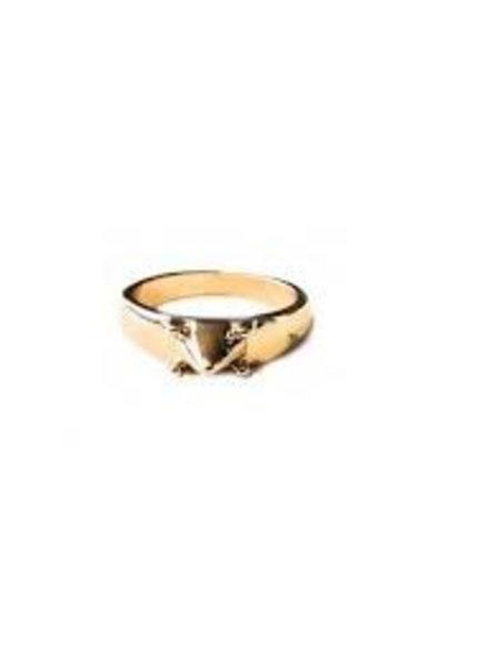 Fashion Mania Ring Goud Spike