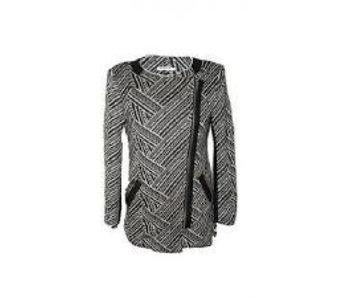Fashion Mania Vest zwart Wit