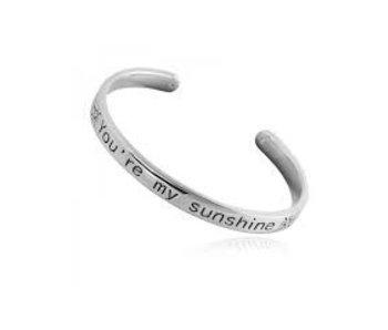 Yehwang Armband Zilver You are My Sunshine
