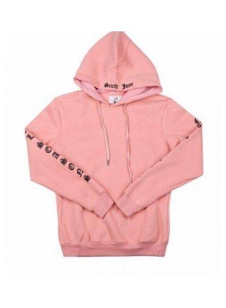 SIXTH JUNE Sweater hoodie all seizoenen roze