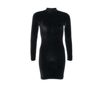 LA SISTERS Velvet Mini Dress Black
