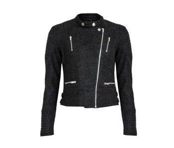 LA SISTERS Wool Biker Jacket Grey