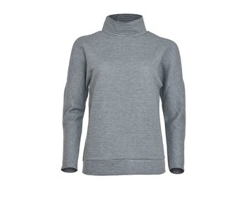 LA SISTERS Open Shoulder Ribbed Sweater Grey
