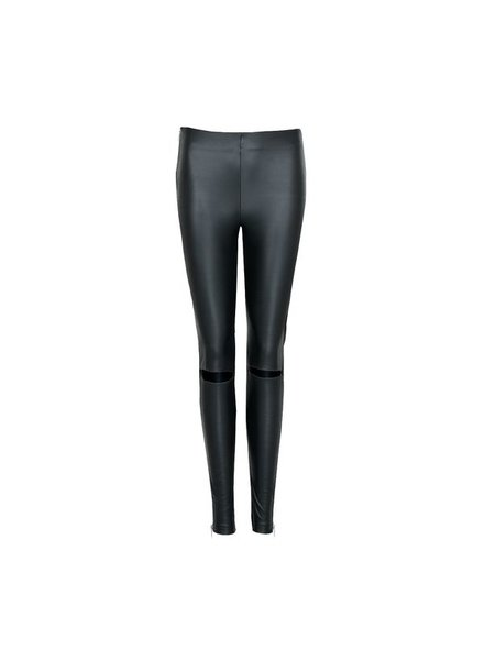 LA SISTERS Leather Cut Out Legging