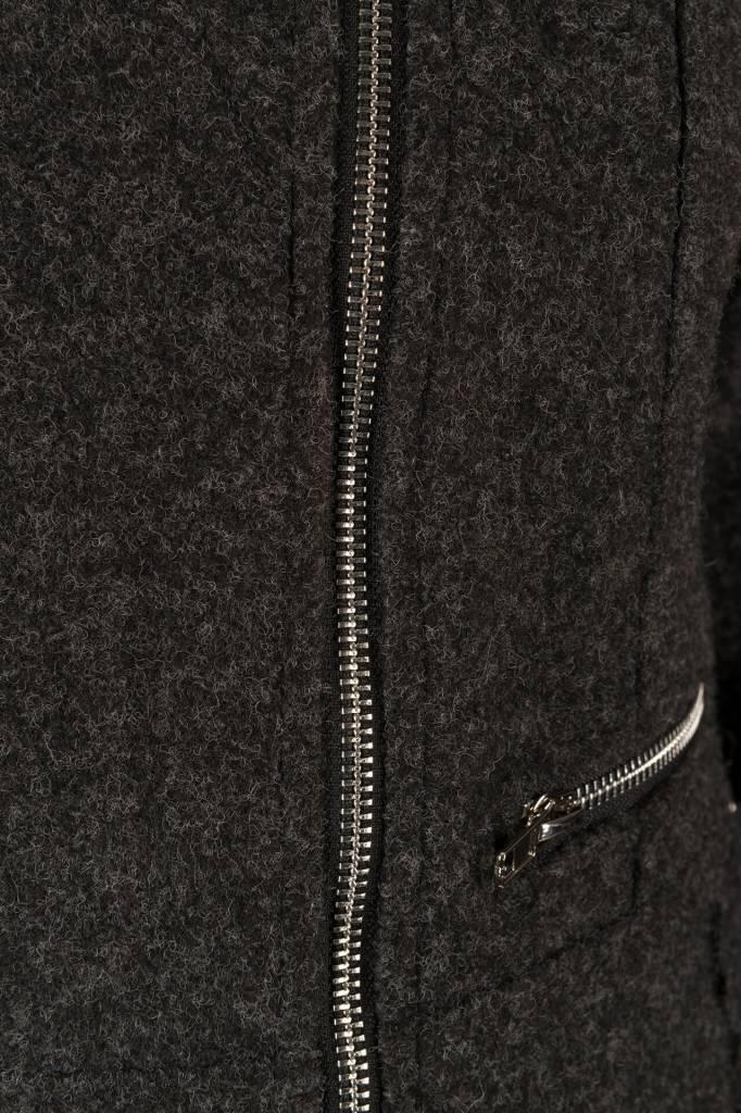 LA SISTERS Wool Biker Jacket Grijs