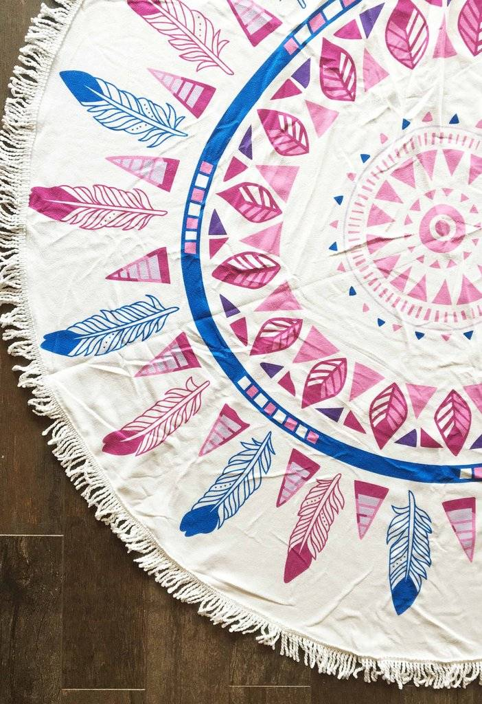 Roudie Beach Towel Pink