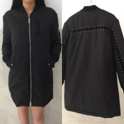 EIGHT PARIS Long bomber zwart