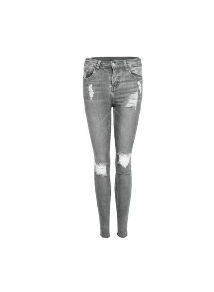 LA SISTERS Ripped High Waisted Jeans