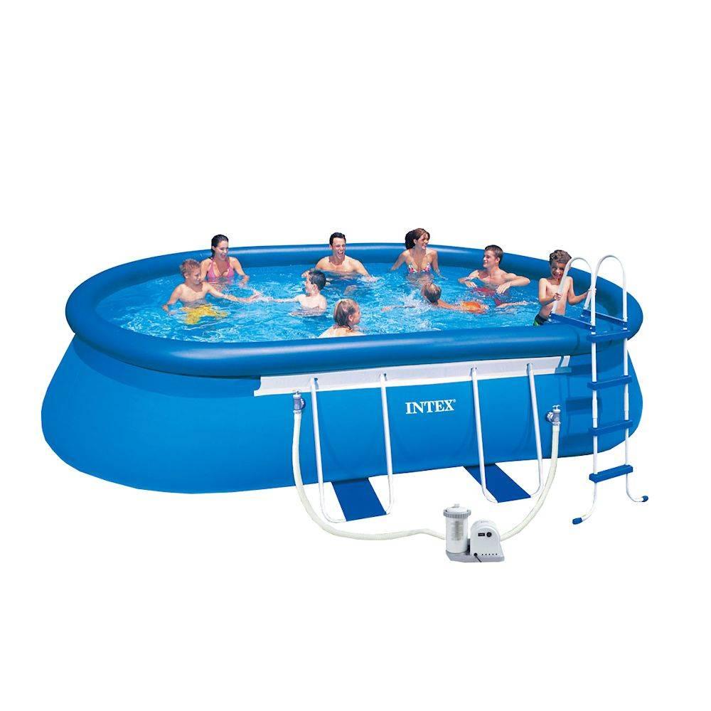 Intex frame zwembad 450x220x84 centimeter intex aanbieding for Frame zwembad aanbieding