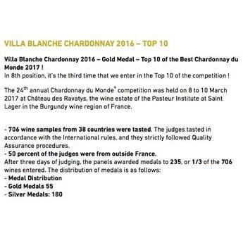 Villa Blanche Villa Blanche Chardonnay 2016