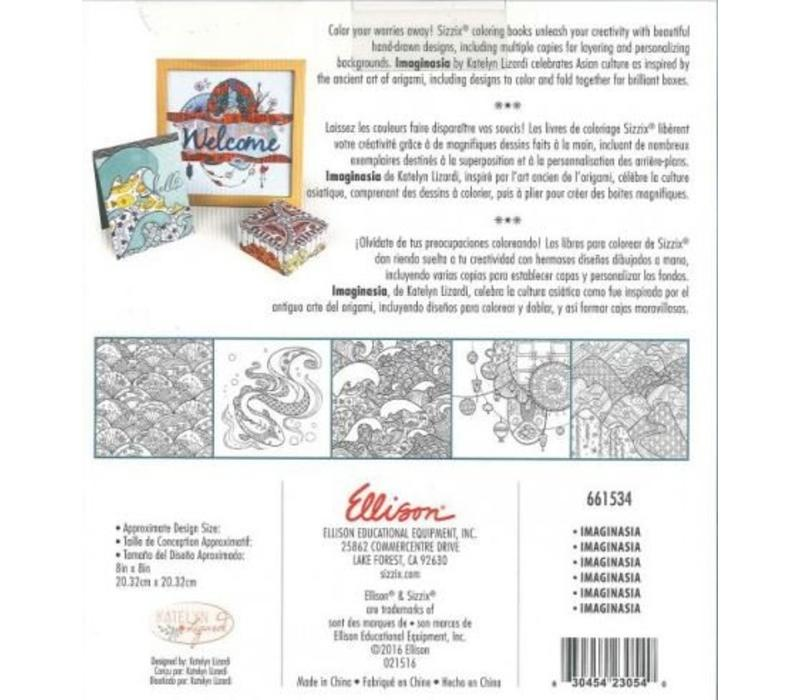 Coloring book by Katelyn Lizardi, Imaginasia