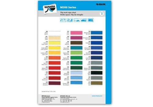 Kleurenkaart Vinyl mat