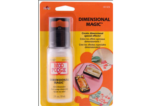 Plaid Mod Podge Dimensional magic clear