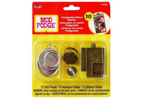 Plaid Mod Podge Podgeable metal blanks