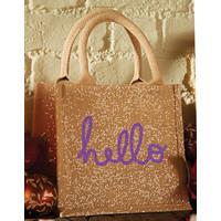 Gouden jute tas (klein)