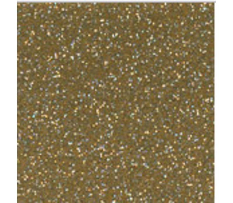 Vinyl Glitter Topaz Goud