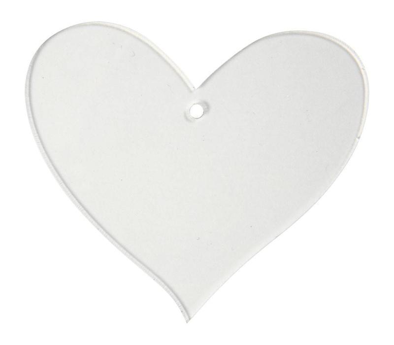 Acryl hanger - hart (5st)