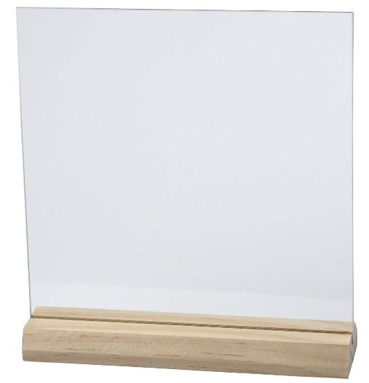 Glazen plaat met houder silhouetteshop for Glazen plaat