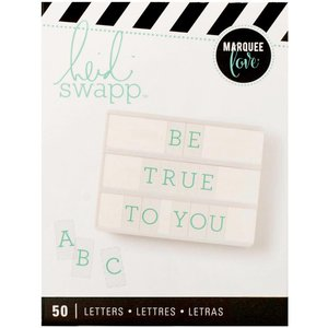 Heidi Swapp Letters - Teal on White