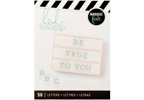 Heidi Swapp Letters - Teal on White (serif)