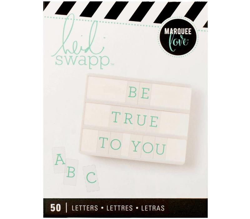 Letters - Teal on White