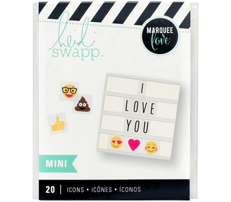 Mini Iconen - Emoji's