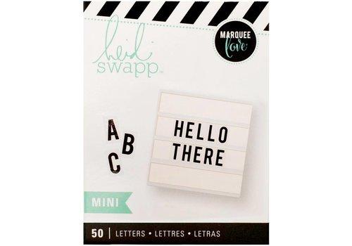 Heidi Swapp Mini Letters - Bold black on white