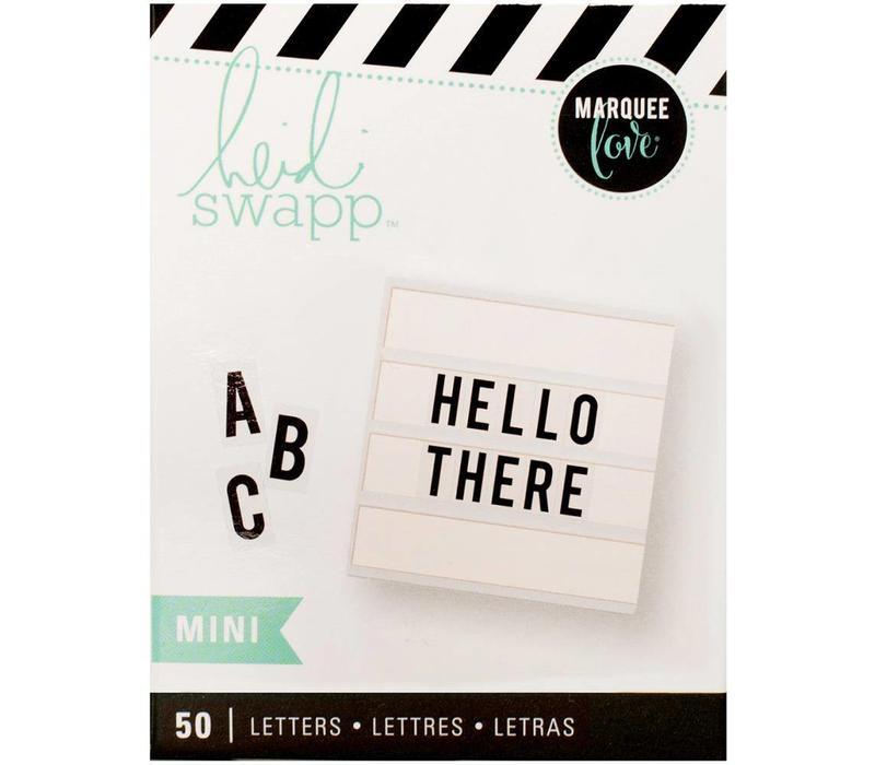Mini Letters - Bold black on white