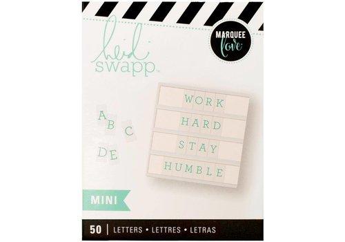 Heidi Swapp Mini Letters - Serif Teal on White