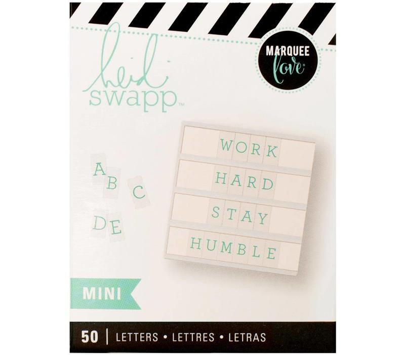 Mini Letters - Serif Teal on White