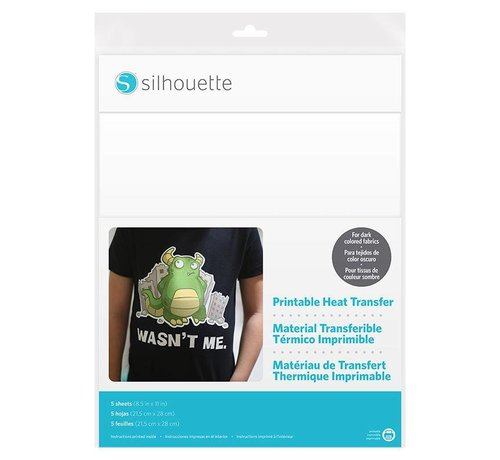 Silhouette Printable Heat transfer voor donkere stoffen
