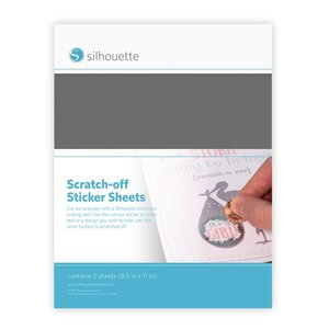 Silhouette Scratch-off stickervellen