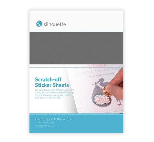 Silhouette Scratch-off  Sticker Sheets: Silver