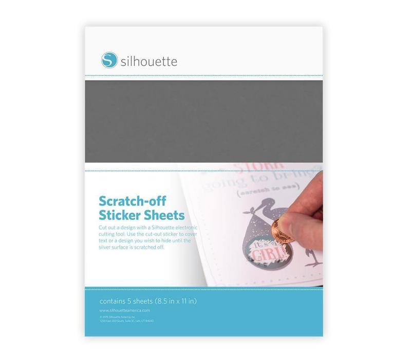 Scratch-off  Sticker Sheets: Silver