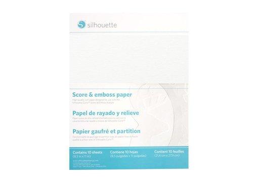 Silhouette Score & Emboss Paper (30.4cm x 27.9cm)
