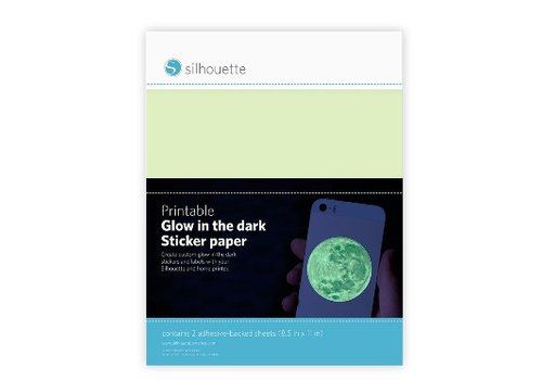 Silhouette Printable Glow-in-the-Dark Sticker Paper (2 sheets: 21.5cm x 27.9cm)